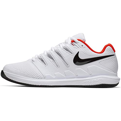 Nike Herren Air Zoom Vapor X Hc Tennisschuhe, Mehrfarbig (White/Black/Bright Crimson 106), 38.5 EU