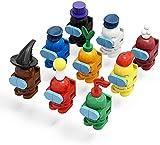 Among Us Figure Toys,Among Us Mini Set di Modellini di Costruzione Carini,Collezione di giocattoli Regali per gli Appassionati di Giochi per Ragazzi e Ragazze Regalo di Compleanno di Natale(126pcs)