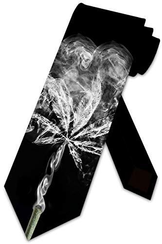 LREFON Pot Ties - Corbata de marihuana para hombre