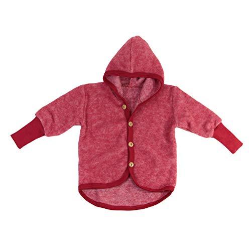 Cosilana Baby Fleece-Jacke mit Kapuze kbT Wolle Bio Baumwolle (62-68)