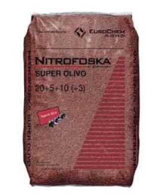 Todo Cultivo Nitrofoska Super Olivo 20-5-10. 25 Kilos. Abono Complejo Que aporta al Olivo Todos los...