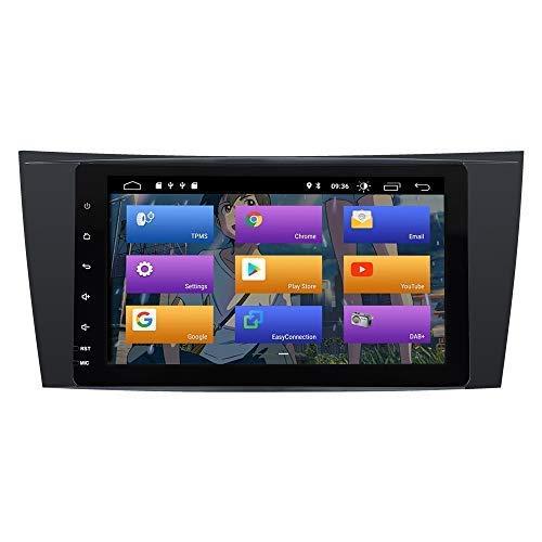 "JFFFFWI für Mercedes Benz E-Klasse W211 W219 CLS Android 10.0 Autoradio Stereo-GPS-System 8""Auto-Multimedia-Player-Unterstützung Auto Auto Play/TPMS/OBD / 4G WiFi/DAB/Mirror 1"