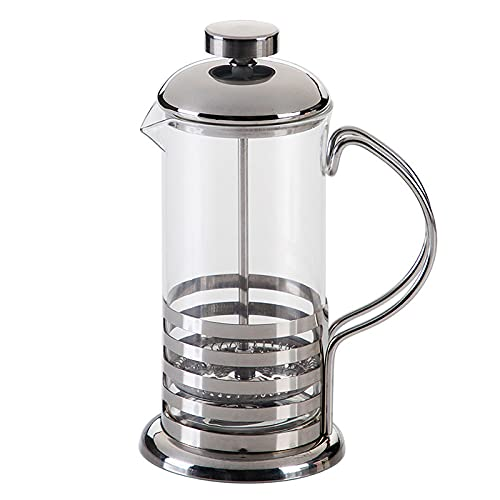 Akin Cafetera de café de prensa francesa de 1 litro con filtro Edelstahl resistente al calor de alto vidrio borosilicato manual cafetera tetera Kaffee Presse (8 tazas)