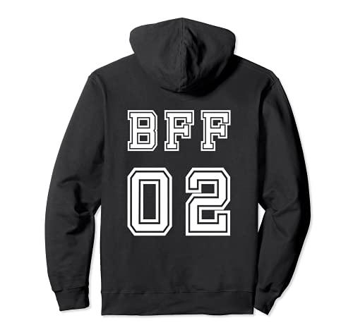 BFF 02 trajes a juego para Bestie Sisters Girls Friendship Sudadera con Capucha
