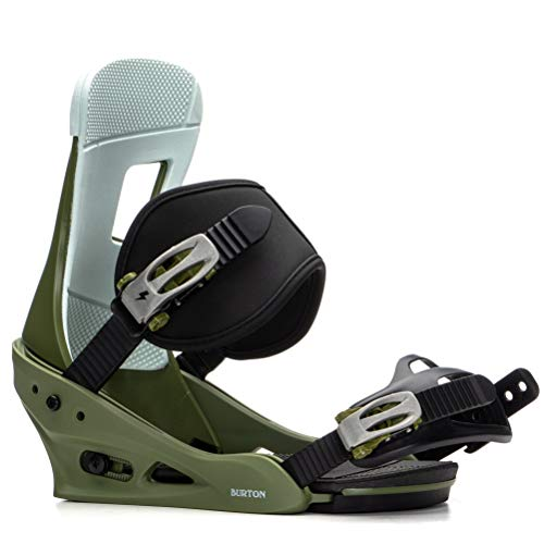 Burton Freestyle Snowboard Bindings Mens Sz M (8-11) Camp On Green
