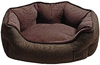 ZEEZ Oval Cuddler Pet Bed 70x60x25cm, Brown