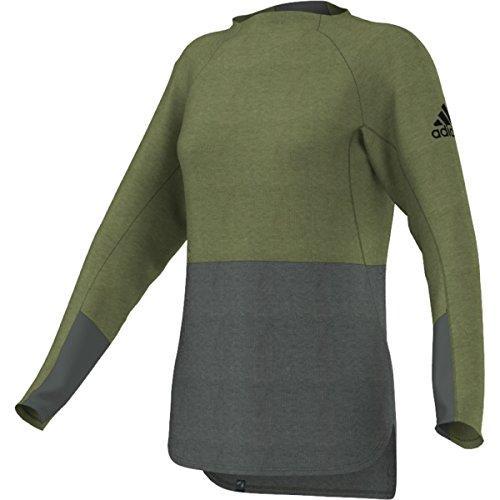 adidas Climb The City - Sudadera para Mujer, Suéter Climb The City, Mujer, Color Verde Crafty/Hiedra de Utilidad, tamaño Large