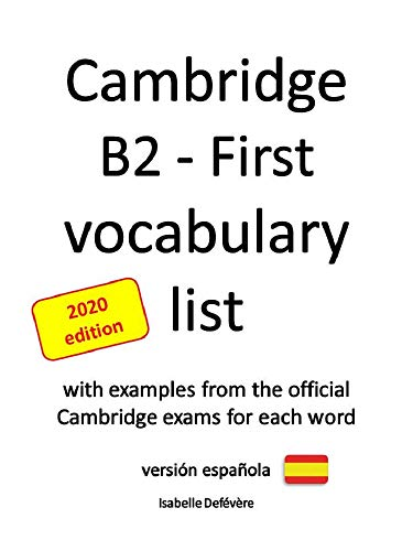 Cambridge B2 - First vocabulary list versión española