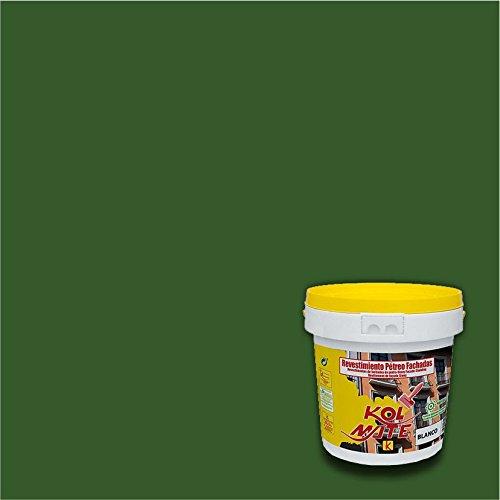 Revestimiento Pétreo de Fachadas KOLMATE. Pintura especial para fachadas (20 kg, verde oscuro)