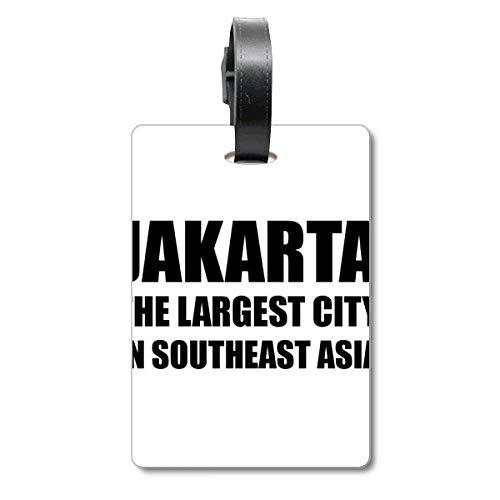 Jakarta grootste stad Zuidoost-Azië Cruise koffer tas Tag Tourister identificatie label