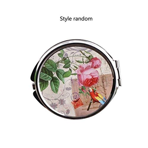 ZKMFGJ 828t coréenne Miroir Métal Maquillage Dressing Miroirs Bureau Rotating1 2 Femmes Grossissement Fonction Maquillage Outils comme Le montrent 13 (Color : F-1)