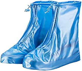 Temerity 1Pair Reusable Rain Shoes Cover Adult Children Thicken Waterproof Boots Cycle Rain Printing Flat Slip-resistant O...