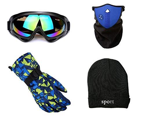 スキー スノーボード 小物 セット 初心者 小物セット 小物一式 ゴーグル マスク グローブ 帽子 ネックウォーマー (男性用)