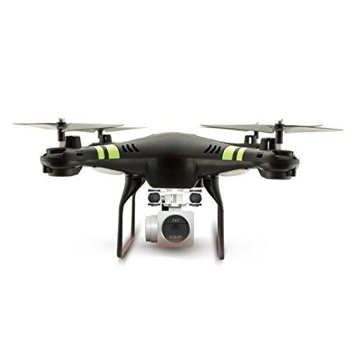 Beautytop Elicottero RC Quadcopter Drone Portatile 2.4G HD Camera WIFI FPV Selfie Aerei pieghevoli (Nero)
