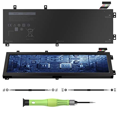 CREATESTAR H5H20 Laptop Battery for Dell XPS 15 9560 9550 9570 7590 7591 Precision 5540 5530 5520 5510 Replacement for 62MJV 6GPTY M7R96 05041C 5D91C