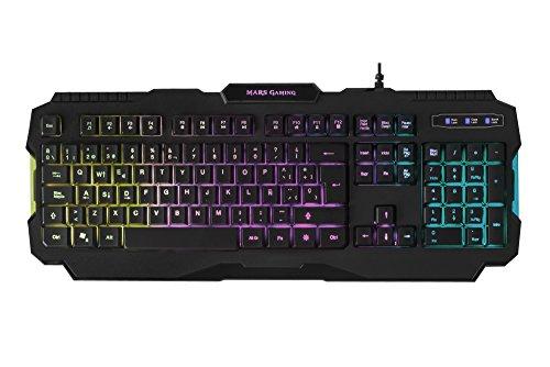Mars Gaming MRK0, verlicht toetsenbord, USB / bedraad, zwart
