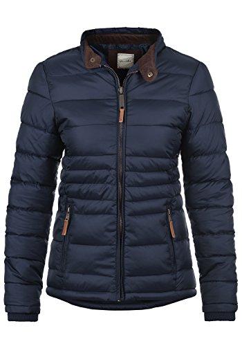 Blend SHE Cora Damen Übergangsjacke Steppjacke leichte Jacke gefüttert mit Stehkragen, Größe:L, Farbe:Navy (70230)