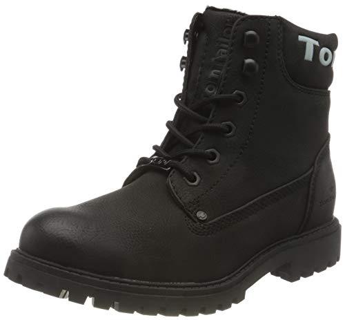 Tom Tailor Womens 9090114 Mid Calf Boot Bootie Boot, Black, 7 UK