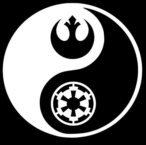 Rebel Empire Yin yang Star Wars Makarios LLC  Cars Trucks Vans Walls Laptop MKR  White  5.5 x 5.5 MKR991