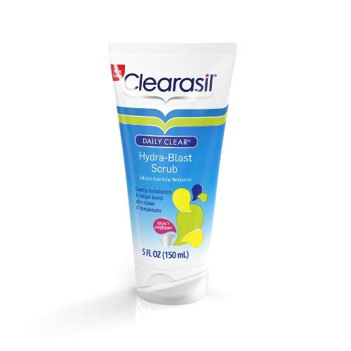 Nettoyant acné pour visage et gommage sans huile Clearasil, 150 ml