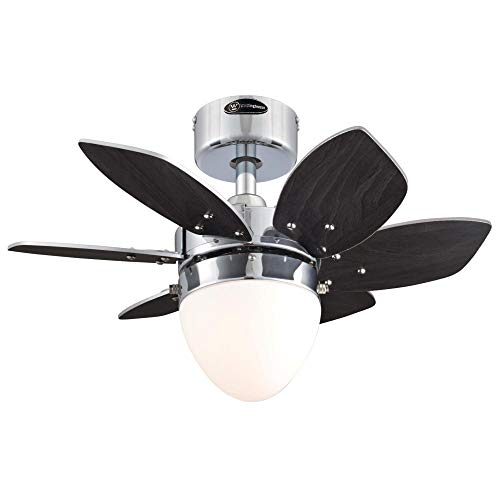 Westinghouse Lighting 7236900 Origami Indoor Ceiling Fan with Light, 24 Inch, Chrome
