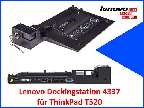 Original Lenovo Dockingstation 4337 für ThinkPad T520 mit Schlüssel (Generalüberholt)