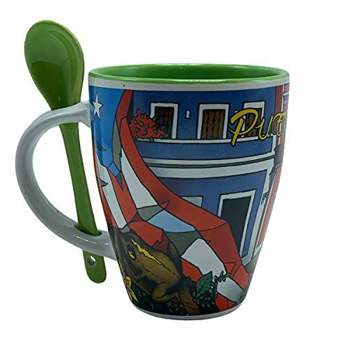 Puerto Rico Coffee Mug Flag Coqui San Juan #22