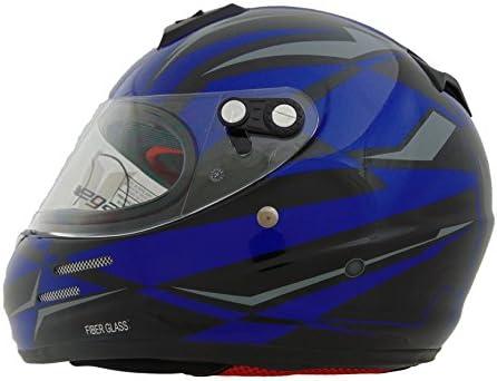 Vega Helmets KJ2 Junior Full Face Karting Helmet with Blue Drift Graphic Blue Large product image