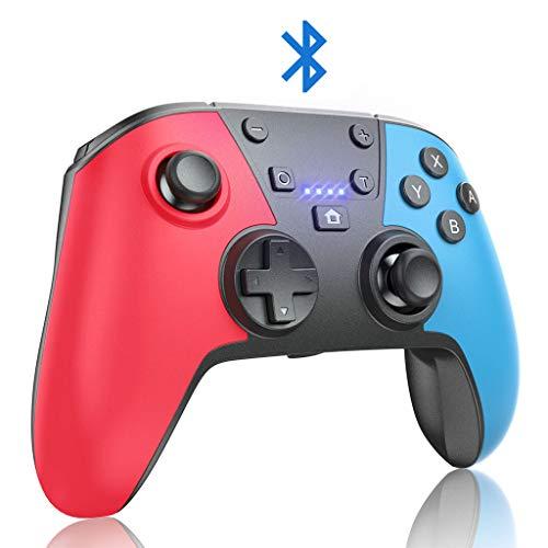 JORREP Switch Controller, Wireless Pro Controller für Nintendo Switch/Switch Lite, Kabellos Bluetooth Gamepad Joypad Controller mit 6-Achsen-Gyroskop, Turbo-Funktion & Dual Shock