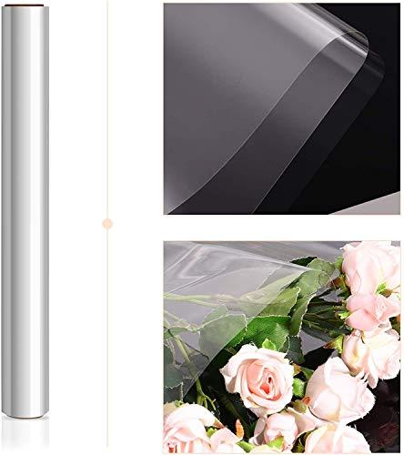 STOBOK Klares Cellophan Transparent Geschenkpapier Rolle | 43CM x 30M Zellophan,2.5 Mil Dicke Folienrolle zum Einwickeln von Geschenkkörben Blumenfolie Geschenkfolie Kunst