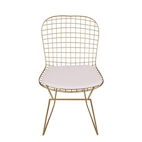 Silla Nordic Ocio Hotel Home Muebles de Hierro Forjado Restaurante Chat Wire Chair Hollow 3.27