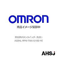 オムロン(OMRON) A22NL-RPM-TWA-G100-YE 照光押ボタンスイッチ (乳白) NN-