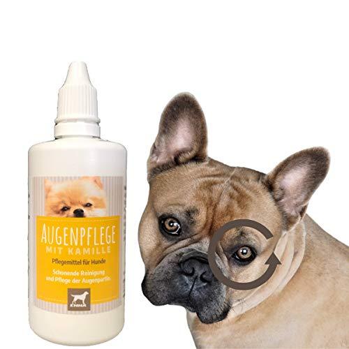 EMMA® Augentropfen Hund I Augenpflege für Hunde I Augenreiniger I milde Augen-Reinigung I Reinigung & Pflege der Augen I mit Kamille I Hundepflege beugt Entzündung vor 100 ml