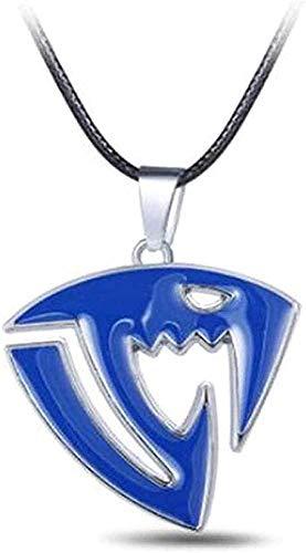 LBBYMX Co.,ltd Collar Anime Fairy Tail Collar Colgante de Metal Collar de Cuero Negro Collar de Cadena Mujeres Hombres Joyería Accesorios de Cosplay Regalo para Mujeres Hombres Regalos