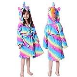 Kinder Frauen Robe Für Mädchen Pyjamas Tier Kapuze Nachthemd Erwachsene Bademantel Stich Robe Bademantel-purple blue-1-6