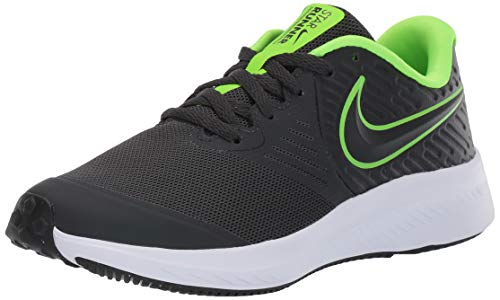 Nike Star Runner 2 (GS), Scarpe da Running, Nero (Anthracite/Electric Green/White 004), 38 EU