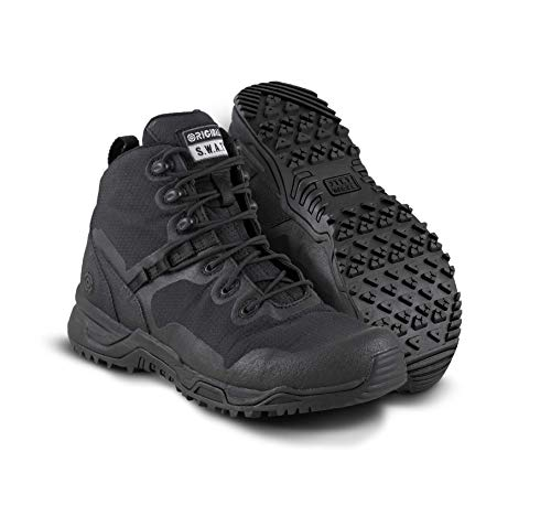 Original SWAT Alpha Fury 6' Tactical Boot | High Performance Light Weight Duty Shoes | Airport Friendly Black