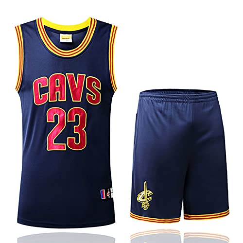 Wsaman No.23 Camiseta de Baloncesto para niños Hombres,Chaleco Deportivo para Gimnasio, 23# Vintage Jersey, Jersey Summer NBA Sports Uniformes,Azul,XL