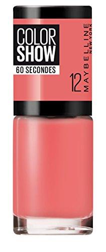 Maybelline Mayb VAO COLOR SHOW NU 12 SUNSET 7ml Coral Crema esmalte de uñas - Esmaltes de uñas (Coral, Sunset, Crema, Botella, 7 ml, 25 mm)