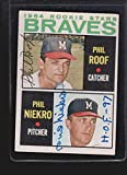 1964 Topps #541 Phil Niekro/Roof Rookie Authentic Autograph Signature Az9315 - Baseball Slabbed Autographed Cards. rookie card picture