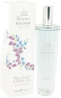Blue Orchid & Water Lily by Woods of Windsor Eau De Toilette Spray 3.3 oz for Women by Woods of Windsor