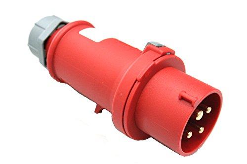 as - Schwabe 60572 Spina elettrica CEE 400V / 32A / 4 poli, IP44
