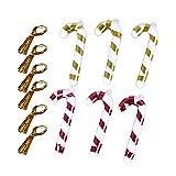lefeindgdi Bastones de caramelo de plástico de Navidad, bastones de caramelo de color al azar, adornos colgantes de árbol de Navidad para adornos de Navidad, decoración de fiestas, 6 unidades