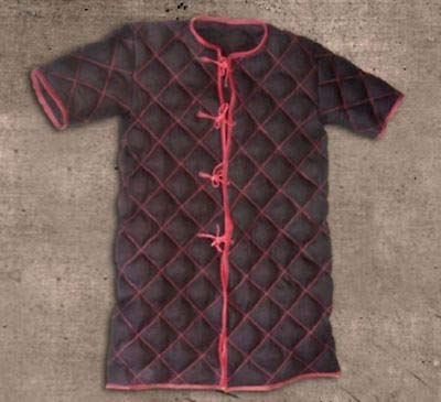 NASIR ALI Thick Padded Brown Gambeson Costumes Movie Role Short Sleeves