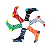 GuaziV Cycling Socks 4 Pack for Men & Women,Colorful Compression Hiking Socks Running Socks for...
