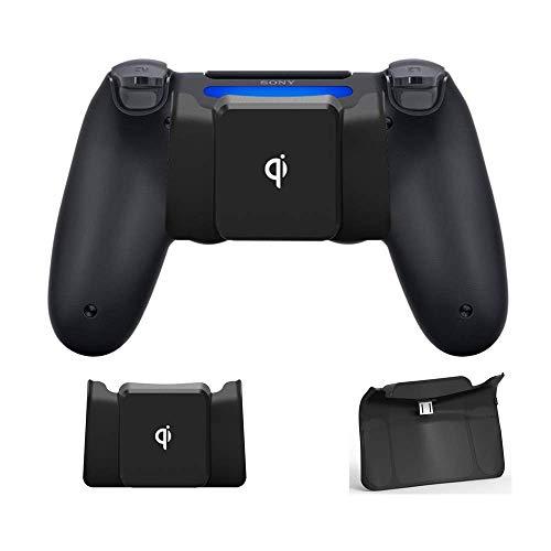 CHIN FAI Qi Receptor de Carga inalámbrico para Controlador PS4 / PS4 Slim / PS4 Pro Adaptador de Cargador inalámbrico para Controlador PS4 DualShock 4