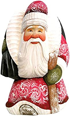 G. Debrekht Devotional Oh Holy Night Hand-Painted Wood Carving