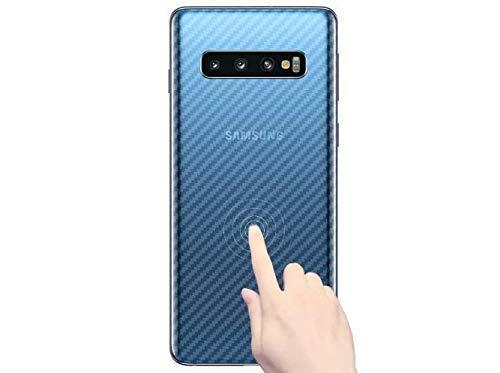 for Samsung Galaxy S10 Back Screen Protector Carbon Fiber Guard Film-2 Packs-Transparent