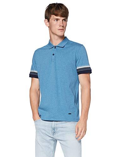 BOSS Mens PSleeve Polo Shirt, Turquoise/Aqua (440), S