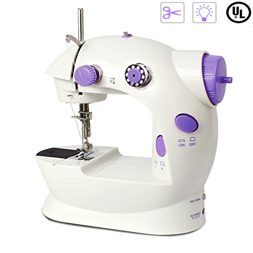 Mini Sewing Machine Double Speed Portable Electric Crafting Mending Machine for Beginners Household Kids